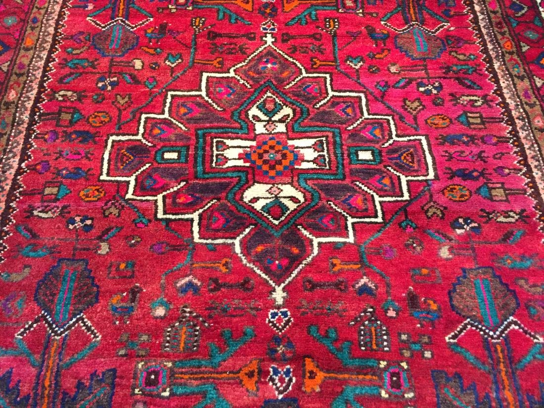 AUTHENTIC HAND KNOTTED PERSIAN HAMEDAN RUG 5x9 - 4