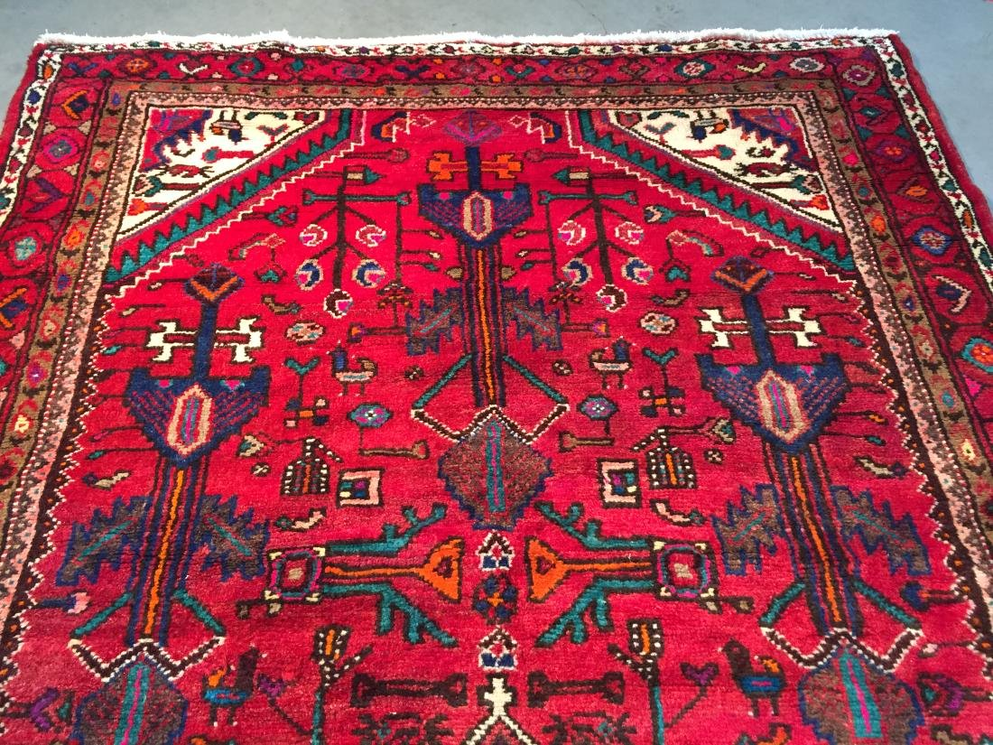 AUTHENTIC HAND KNOTTED PERSIAN HAMEDAN RUG 5x9 - 5