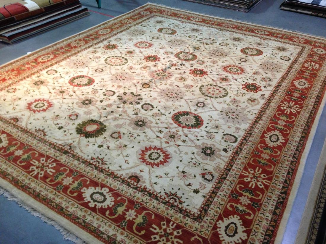 OVER SIZE AUTHENTIC HAND KNOTTED ZIGHLER RUG 12x15 - 2