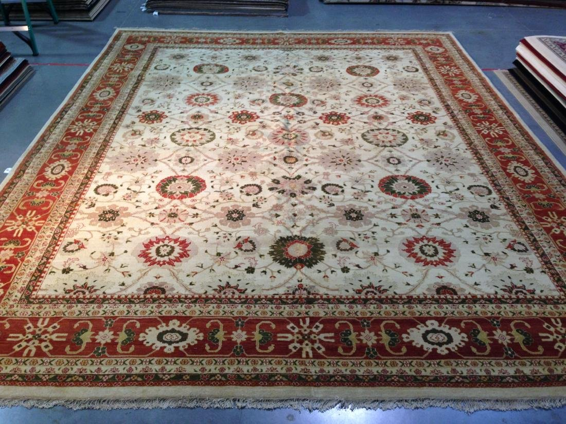 OVER SIZE AUTHENTIC HAND KNOTTED ZIGHLER RUG 12x15 - 3