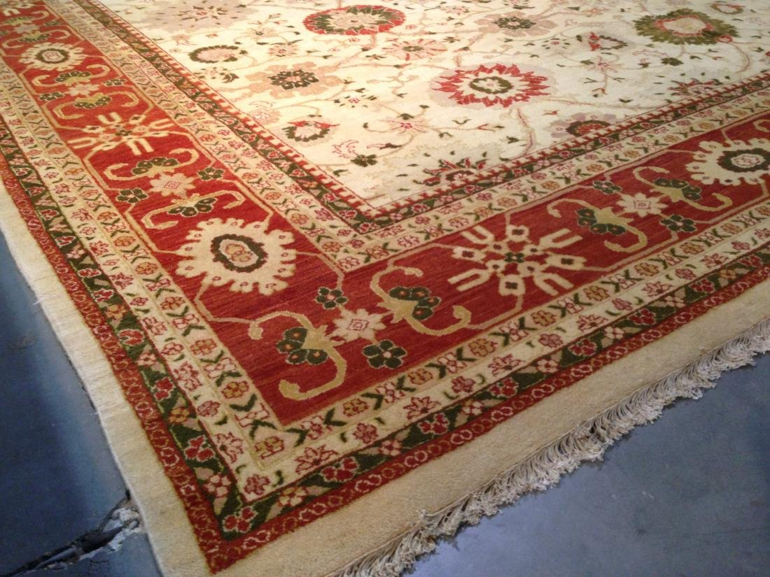 OVER SIZE AUTHENTIC HAND KNOTTED ZIGHLER RUG 12x15 - 4