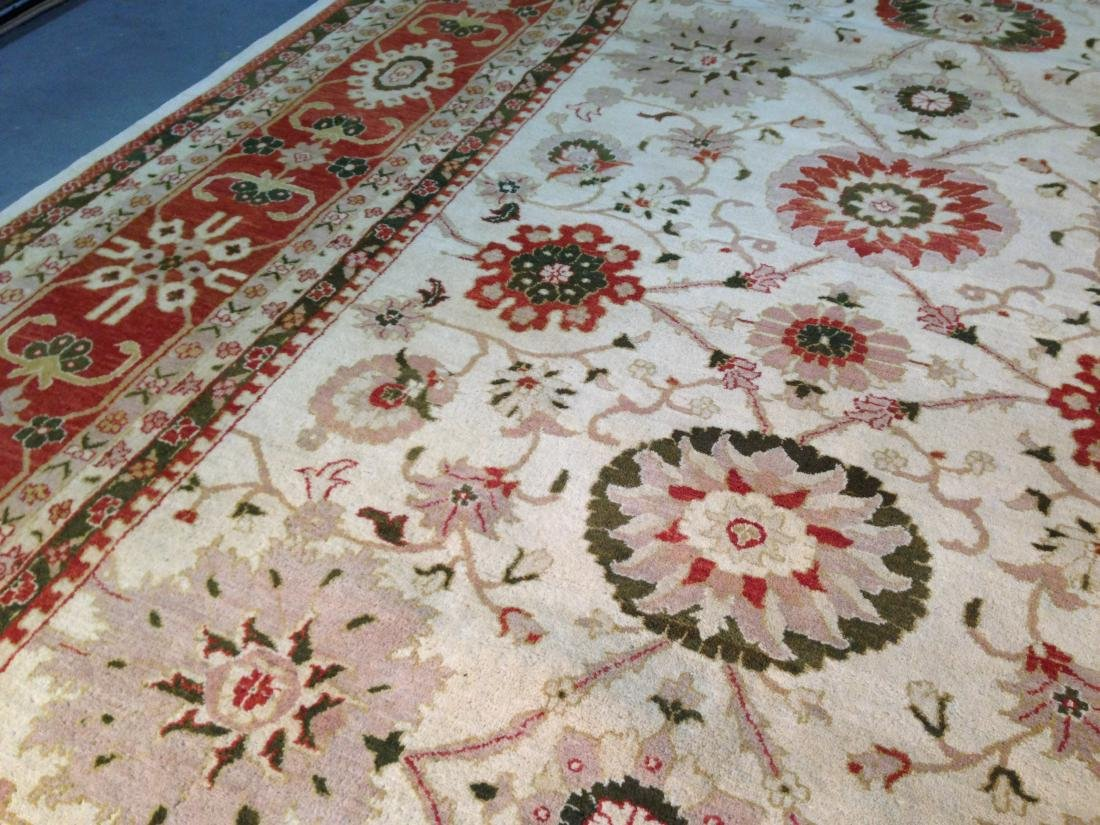 OVER SIZE AUTHENTIC HAND KNOTTED ZIGHLER RUG 12x15 - 5
