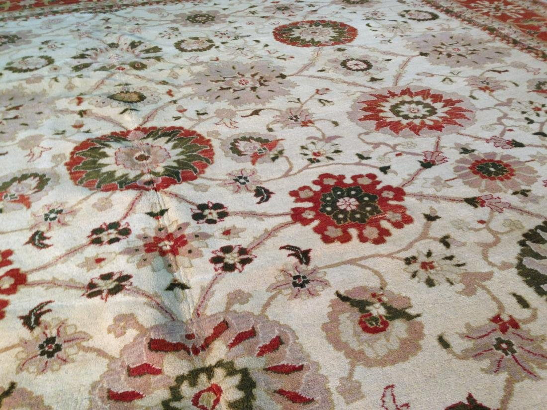 OVER SIZE AUTHENTIC HAND KNOTTED ZIGHLER RUG 12x15 - 6