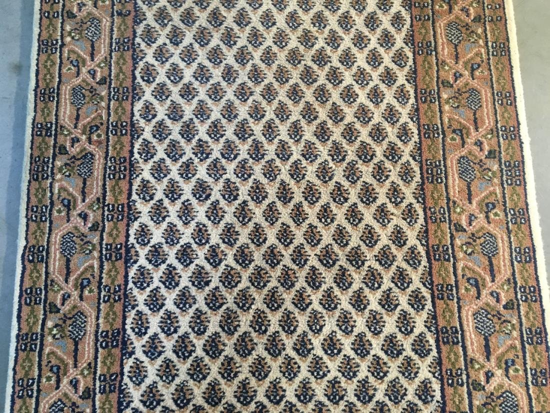 CLASSIC HAND-KNOTTED  WOOL RUNNER 2.9x10.2 - 3
