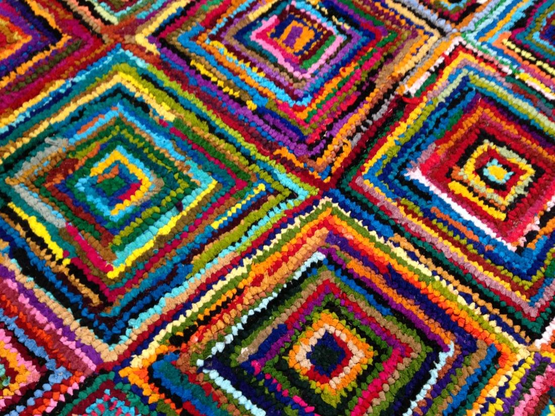 COLORFUL HAND MADE RUG 5.6x8.6 - 4