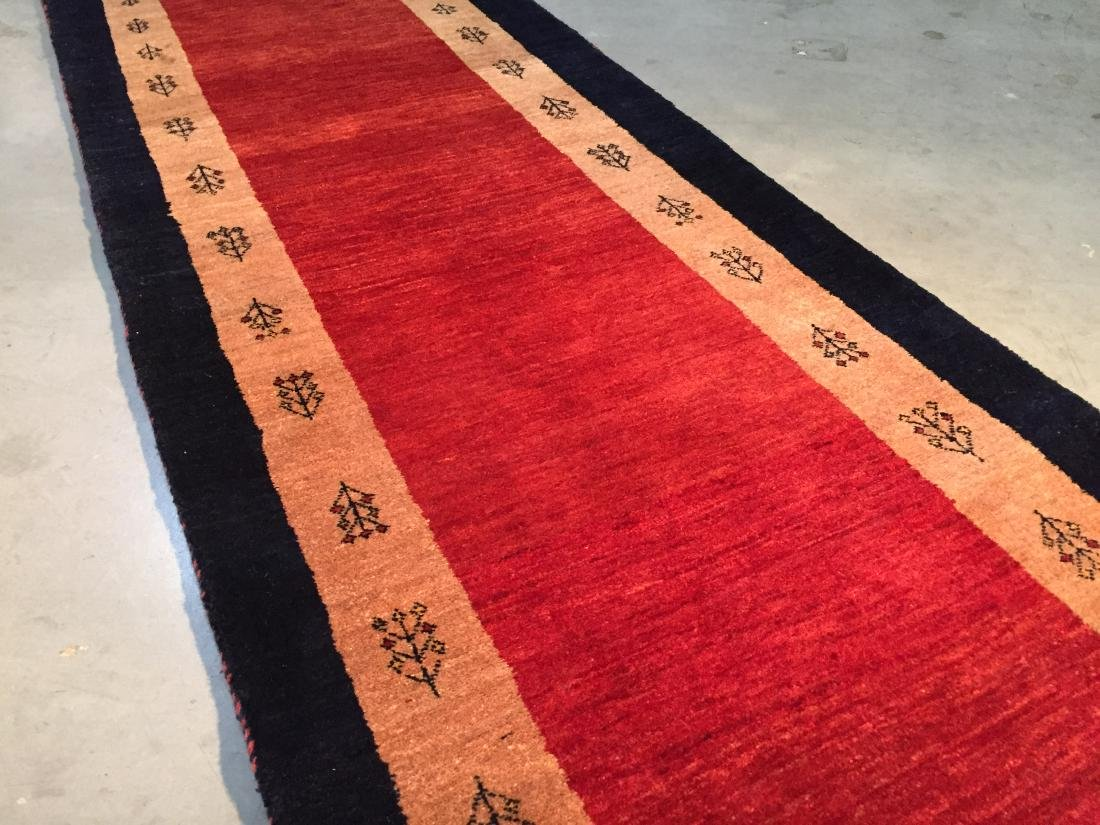 "MAGNIFICENT AUTHENTIC PERSIAN GABBEH RUNNER 2'.6""X8'.8"" - 2"