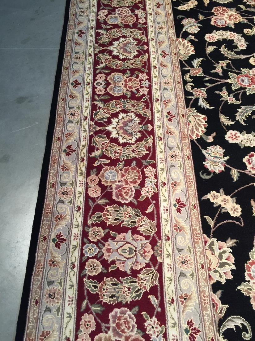MAGNIFICANT HAND-KNOTTED  PERSIAN WOOL AND SILK  RUG - 5
