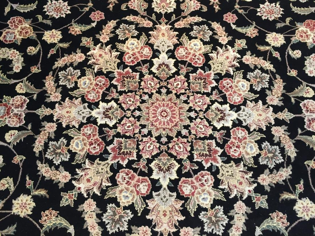 MAGNIFICANT HAND-KNOTTED  PERSIAN WOOL AND SILK  RUG - 6