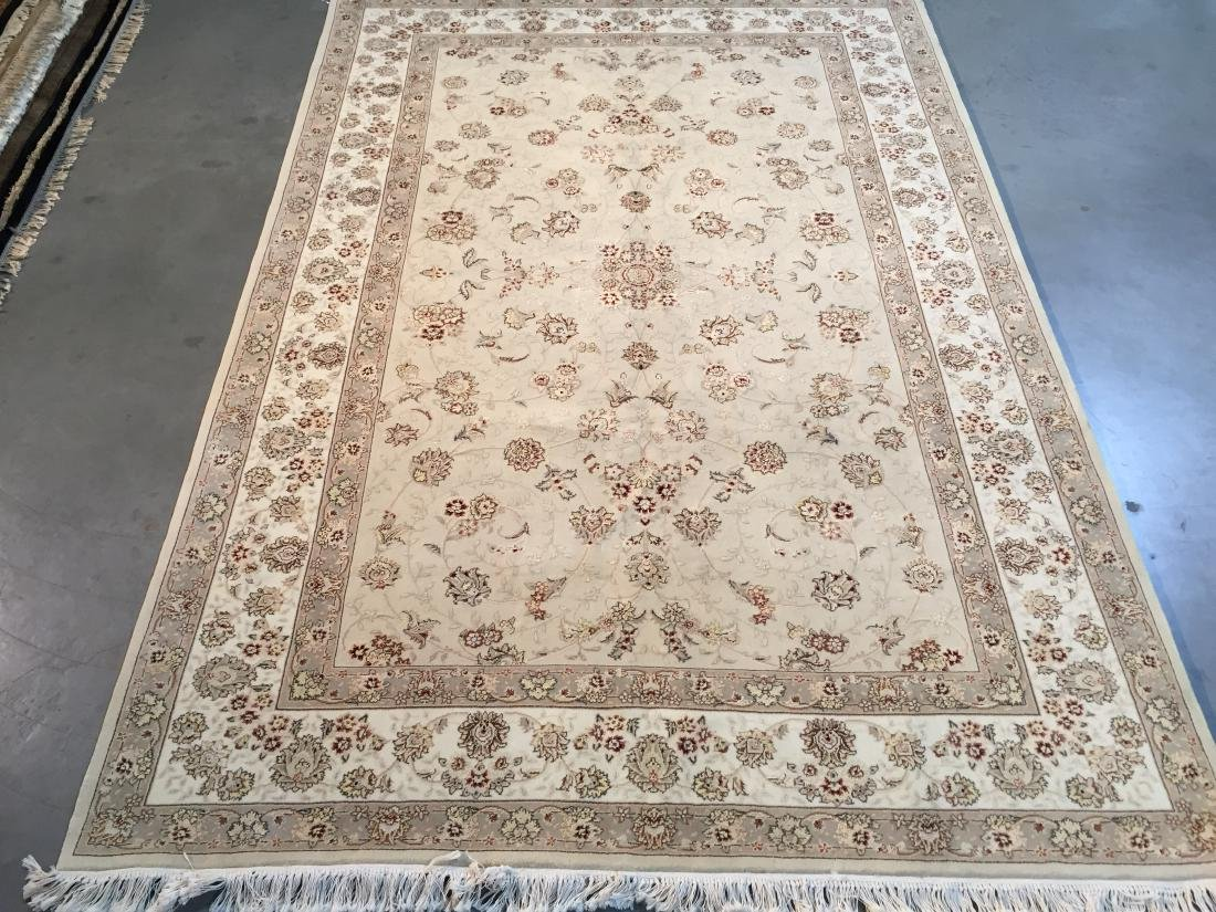 MAGNIFICANT HAND-KNOTTED  PERSIAN WOOL AND SILK  RUG