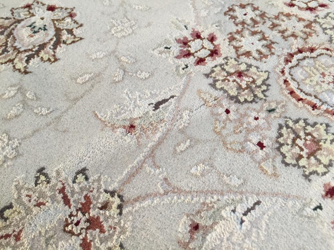 MAGNIFICANT HAND-KNOTTED  PERSIAN WOOL AND SILK  RUG - 7