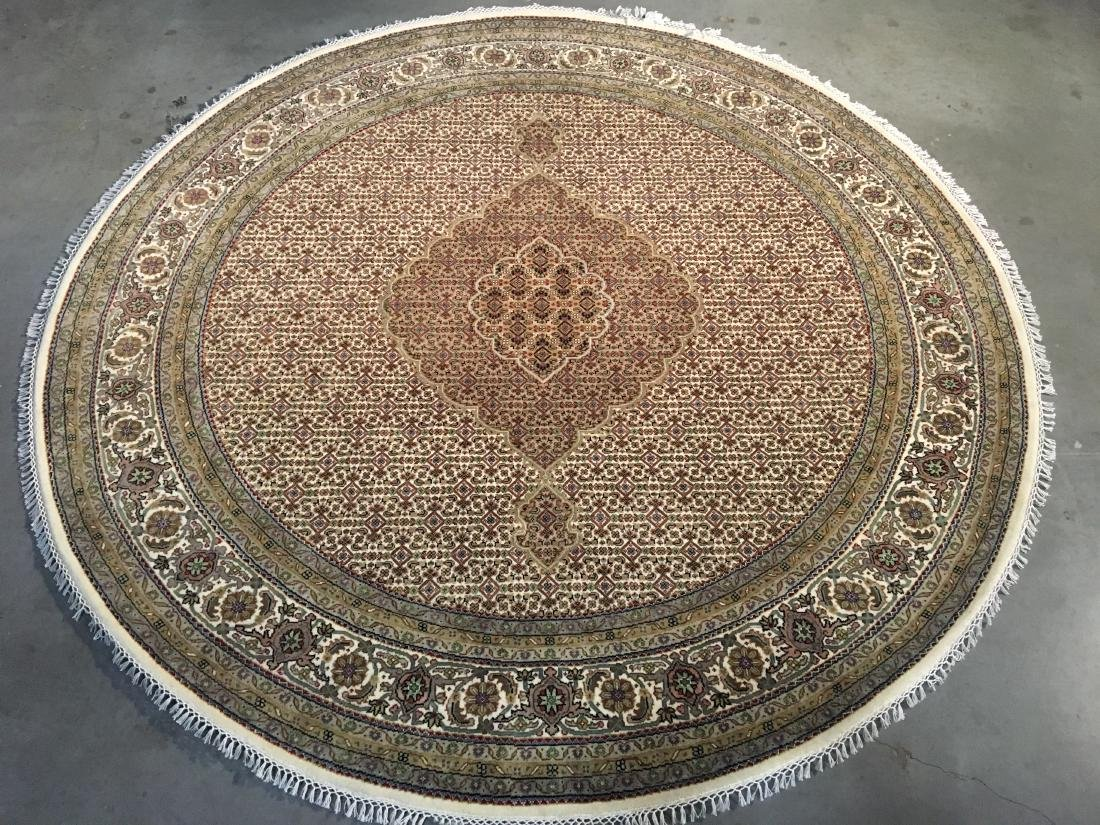 FINE HAND-KNOTTED PERSIAN SILK AND WOOL  TABRIZ RUG 6'