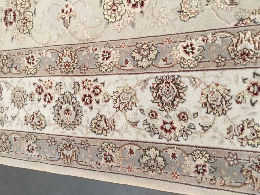 MAGNIFICANT HAND-KNOTTED  PERSIAN WOOL AND SILK  RUG - 4