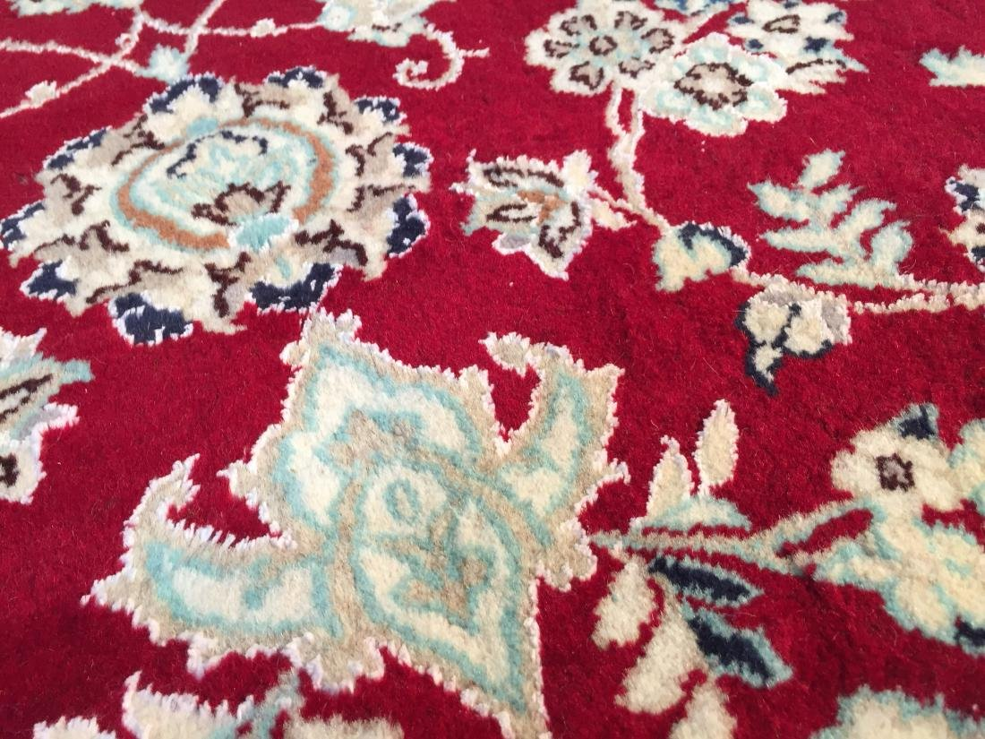 "MAGNIFICENT SILK &WOOL PERSIAN NAIN RUG 6'.7""x10'.2"" - 6"