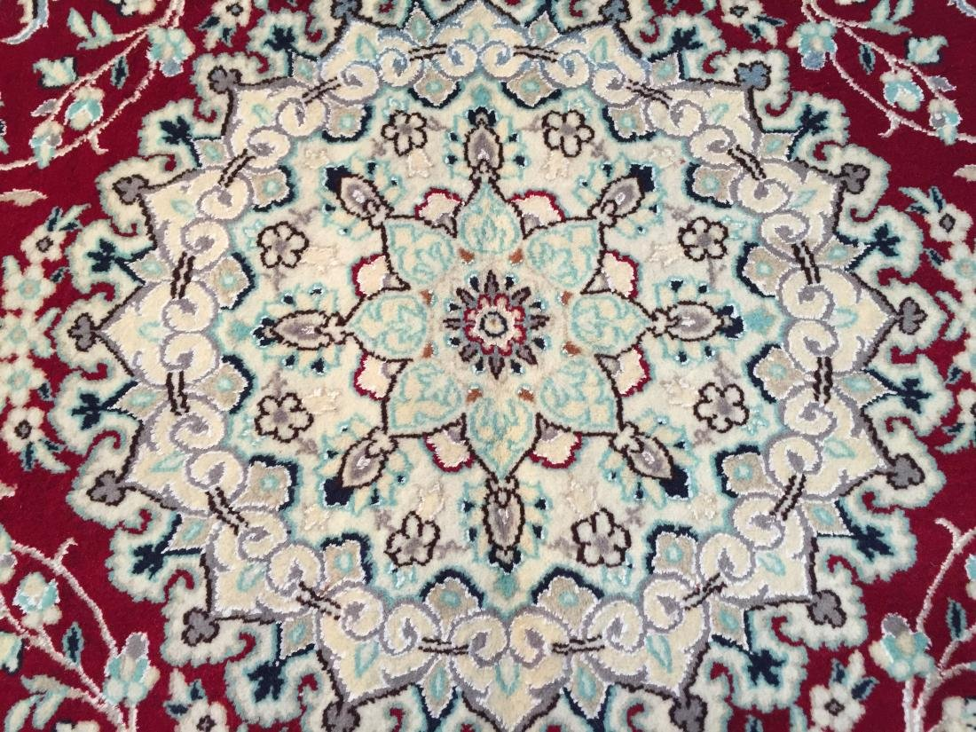 "MAGNIFICENT SILK &WOOL PERSIAN NAIN RUG 6'.7""x10'.2"" - 9"