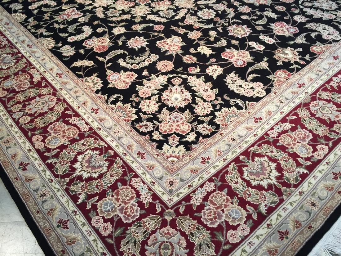 MAGNIFICANT HAND-KNOTTED  PERSIAN WOOL AND SILK  RUG - 3