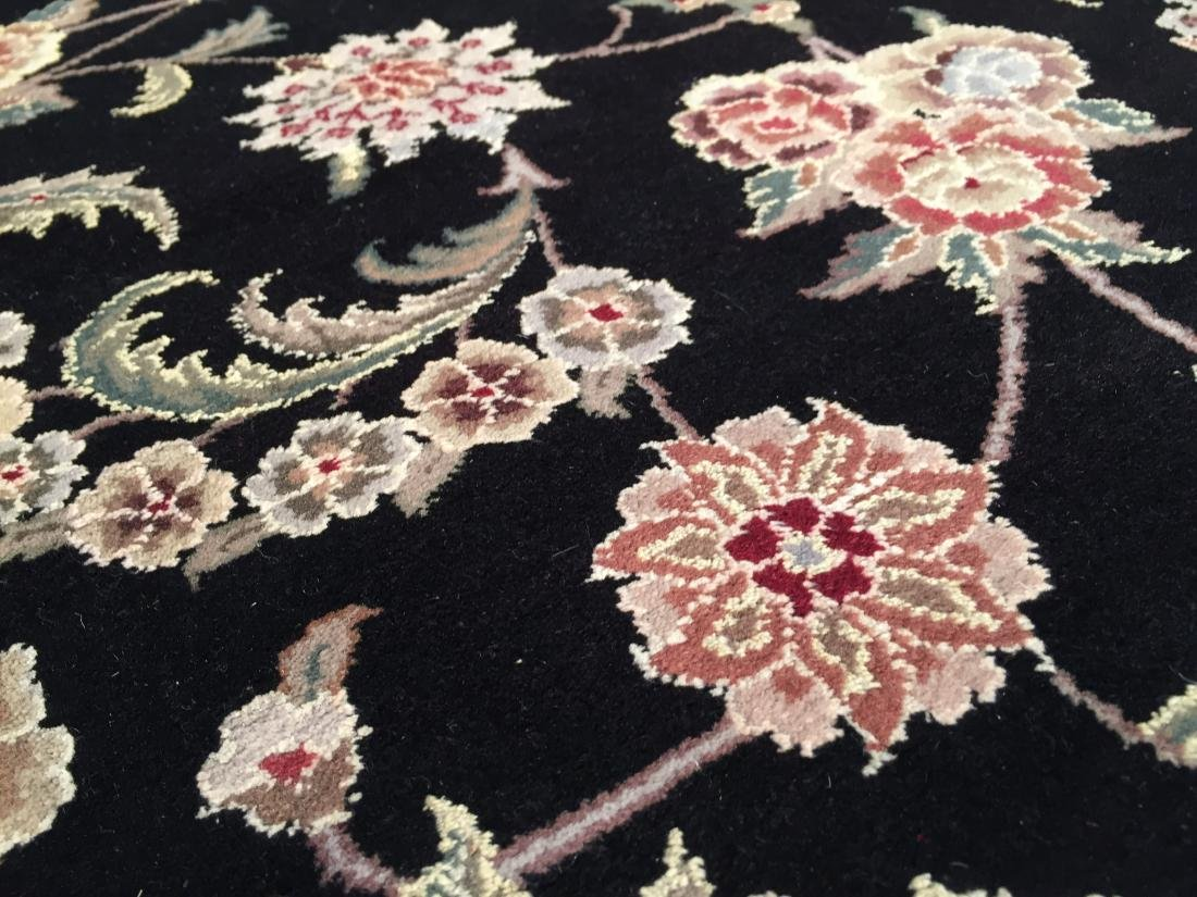 MAGNIFICANT HAND-KNOTTED  PERSIAN WOOL AND SILK  RUG - 9