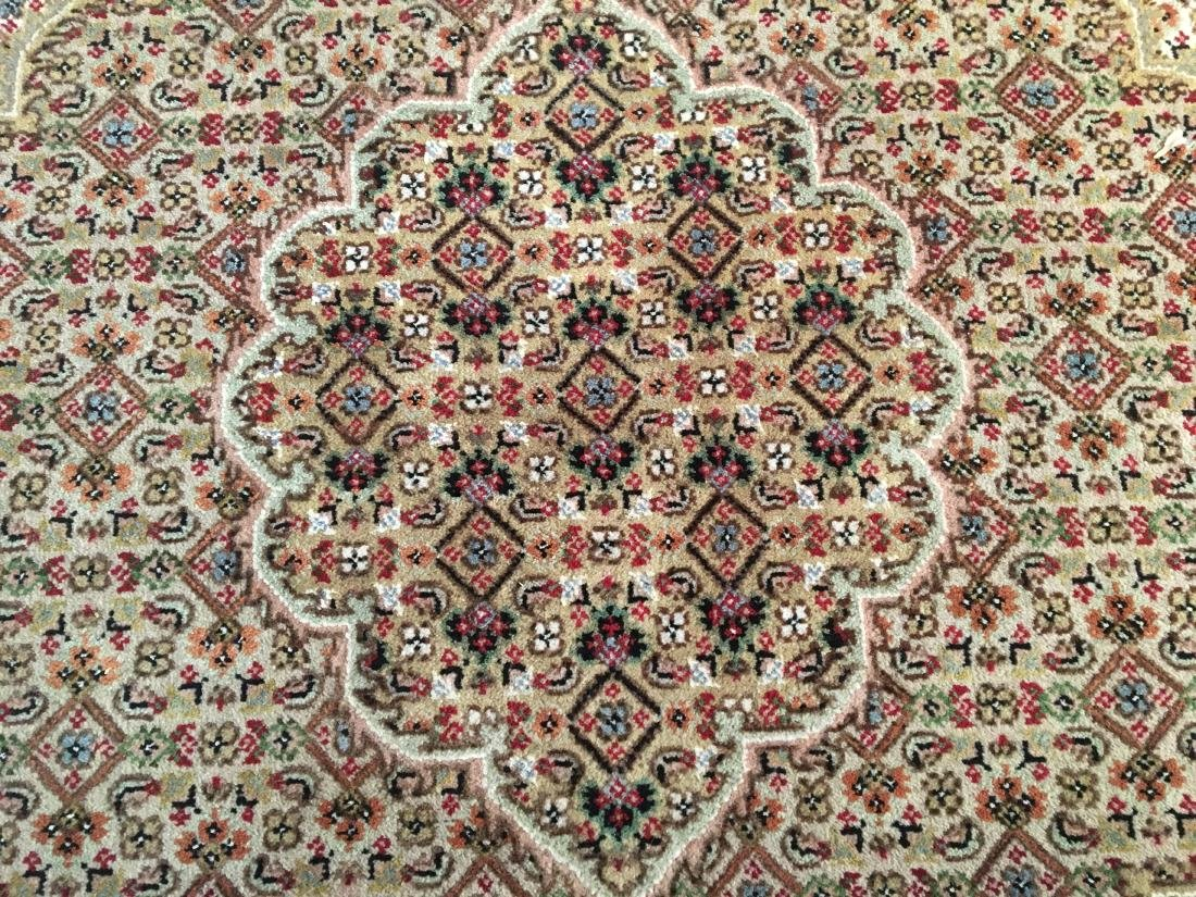 FINE HAND-KNOTTED PERSIAN SILK AND WOOL  TABRIZ RUG 6' - 4