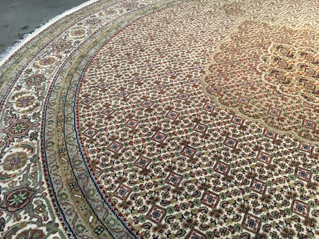 FINE HAND-KNOTTED PERSIAN SILK AND WOOL  TABRIZ RUG 6' - 6