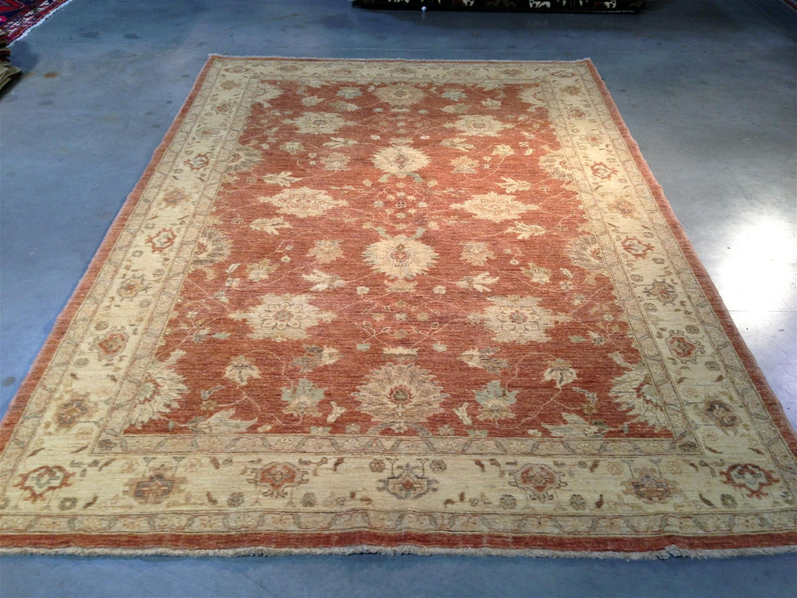 HAND KNOTTED VINTAGE REPRODUCTION RUG 6x9