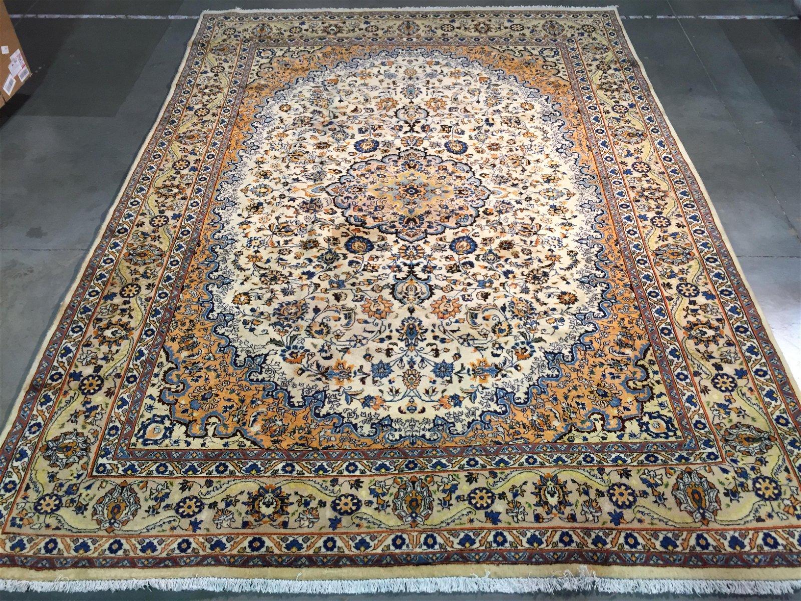 STUNNING AUTHENTIC PERSIAN KASHMAR RUG 9.5x13