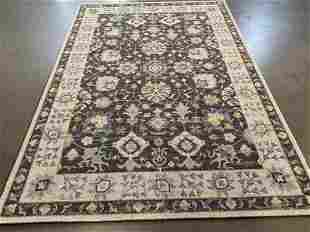 "DECORATIVE MODERN DESIGN WOOL RUG  WITH 5'.3"" x 7'.6"""