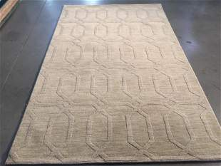 DECORATIVE MODERN DESIGN WOOL RUG 5x8