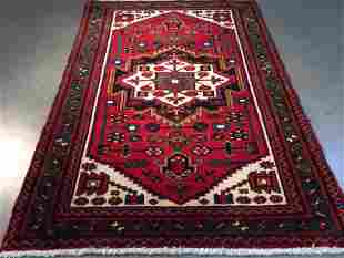 AUTHENTIC HAND KNOTTED PERSIAN HAMADAN RUG 3.9x5.6