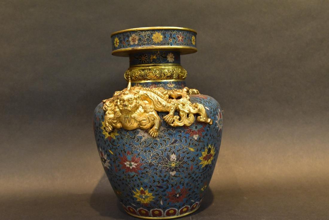 A  Cloisonne Vase - 4