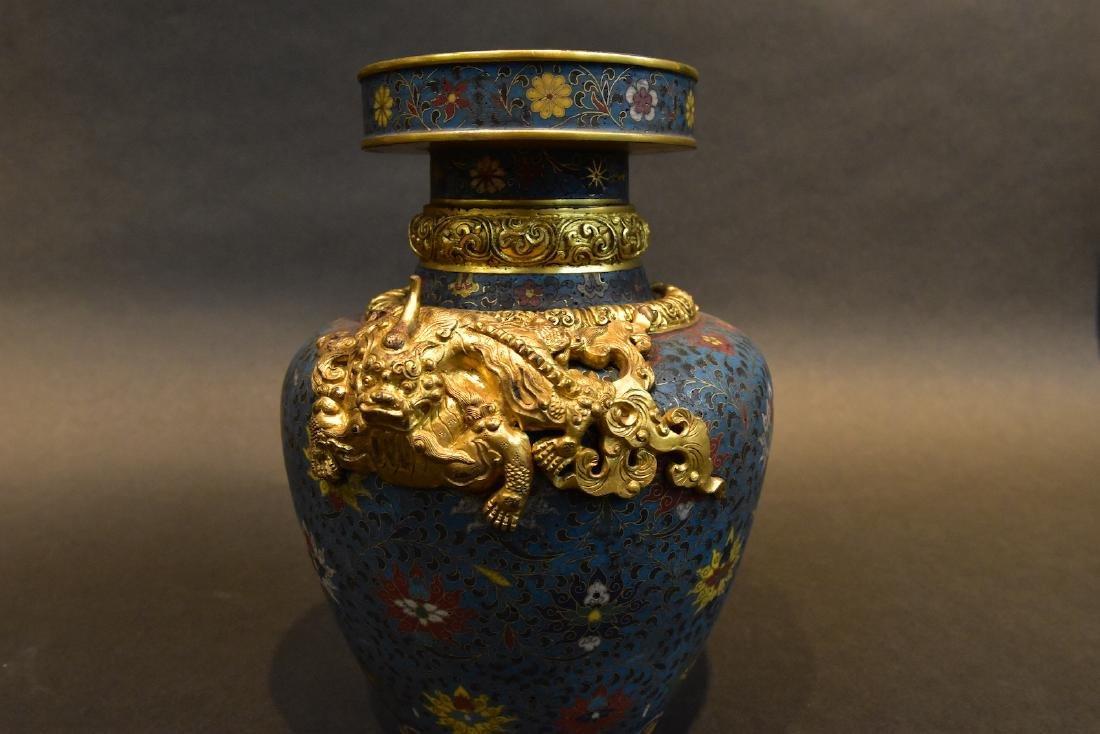 A  Cloisonne Vase - 5
