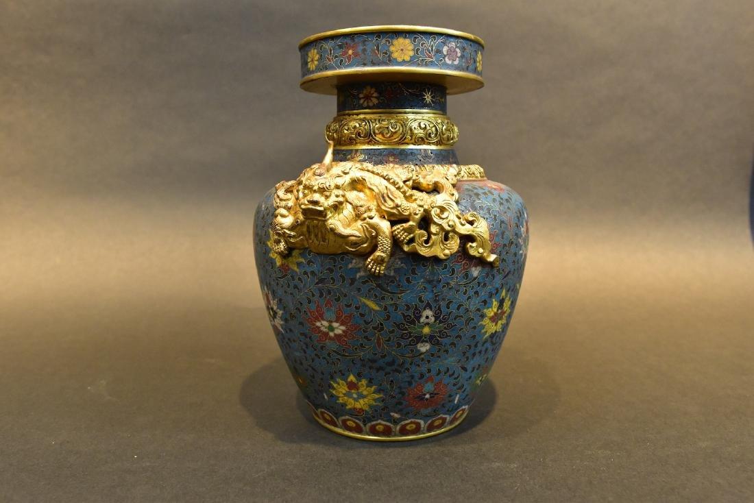 A  Cloisonne Vase - 6