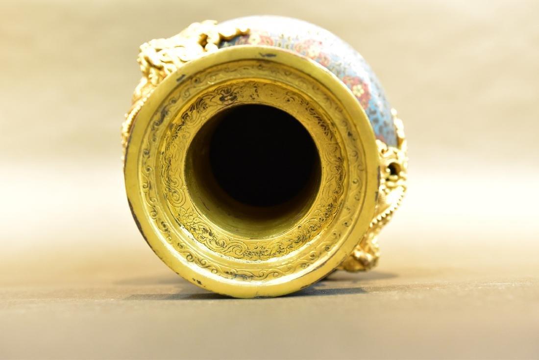 A  Cloisonne Vase - 7