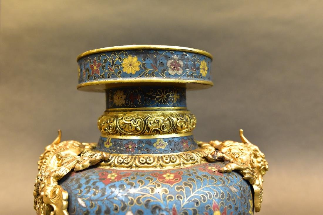 A  Cloisonne Vase - 9