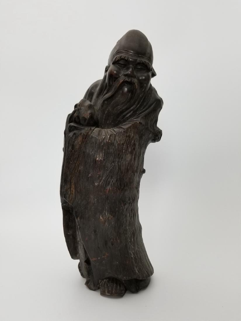 A Carved Wood Longevity