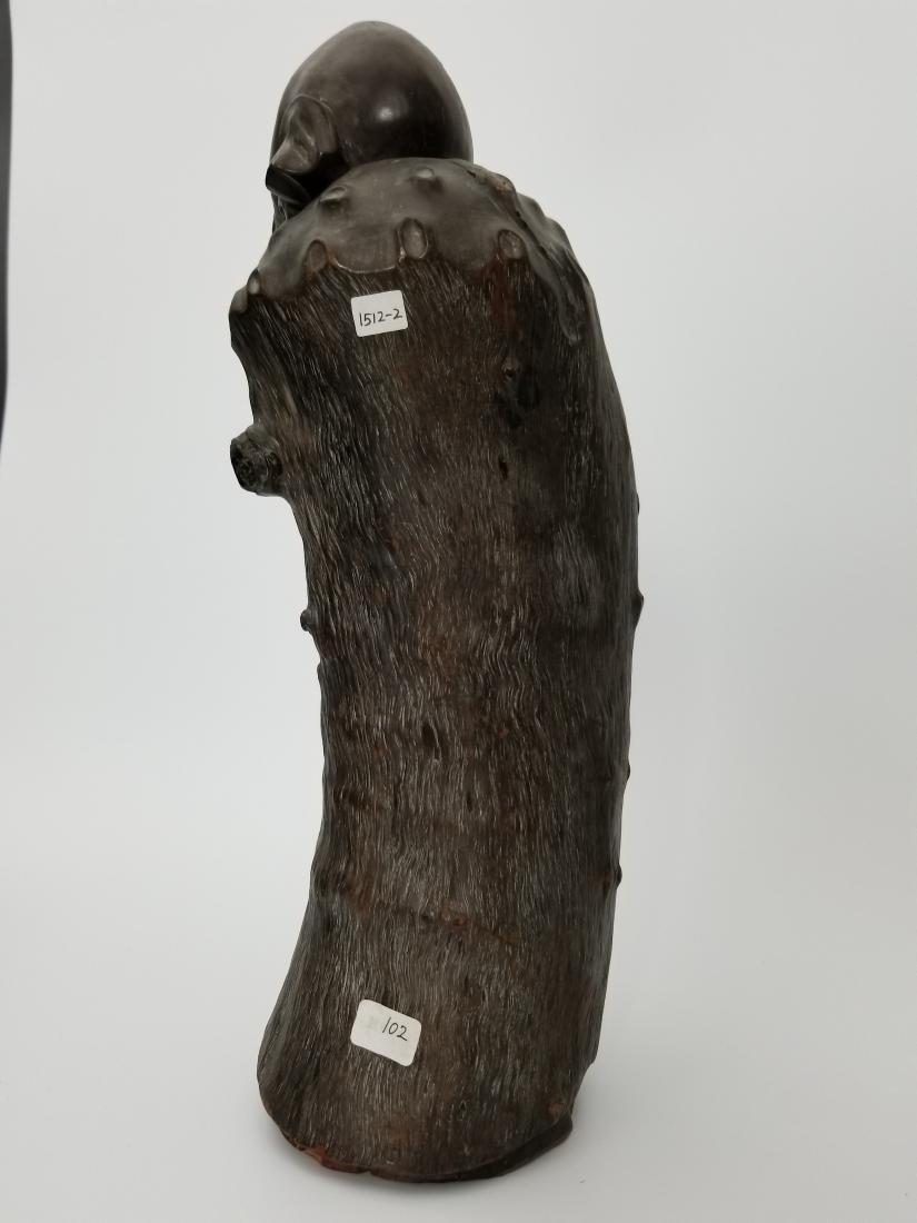 A Carved Wood Longevity - 2