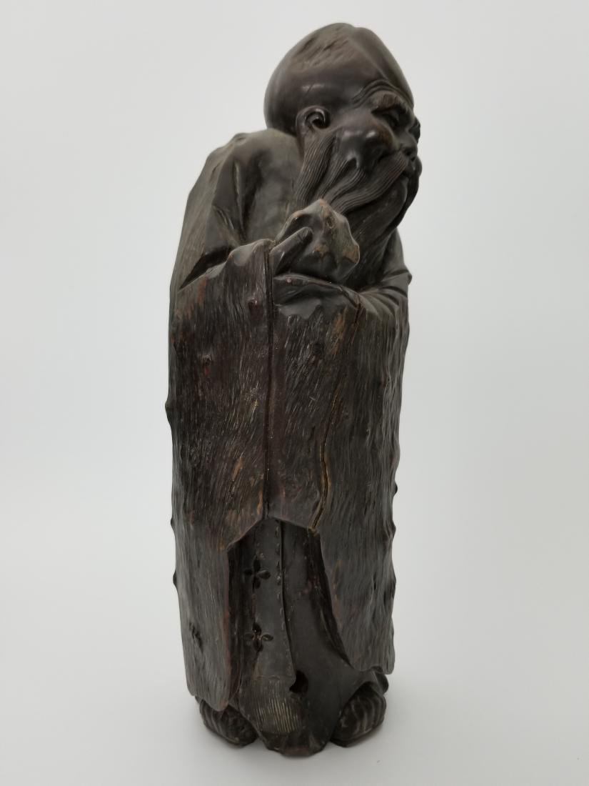A Carved Wood Longevity - 3