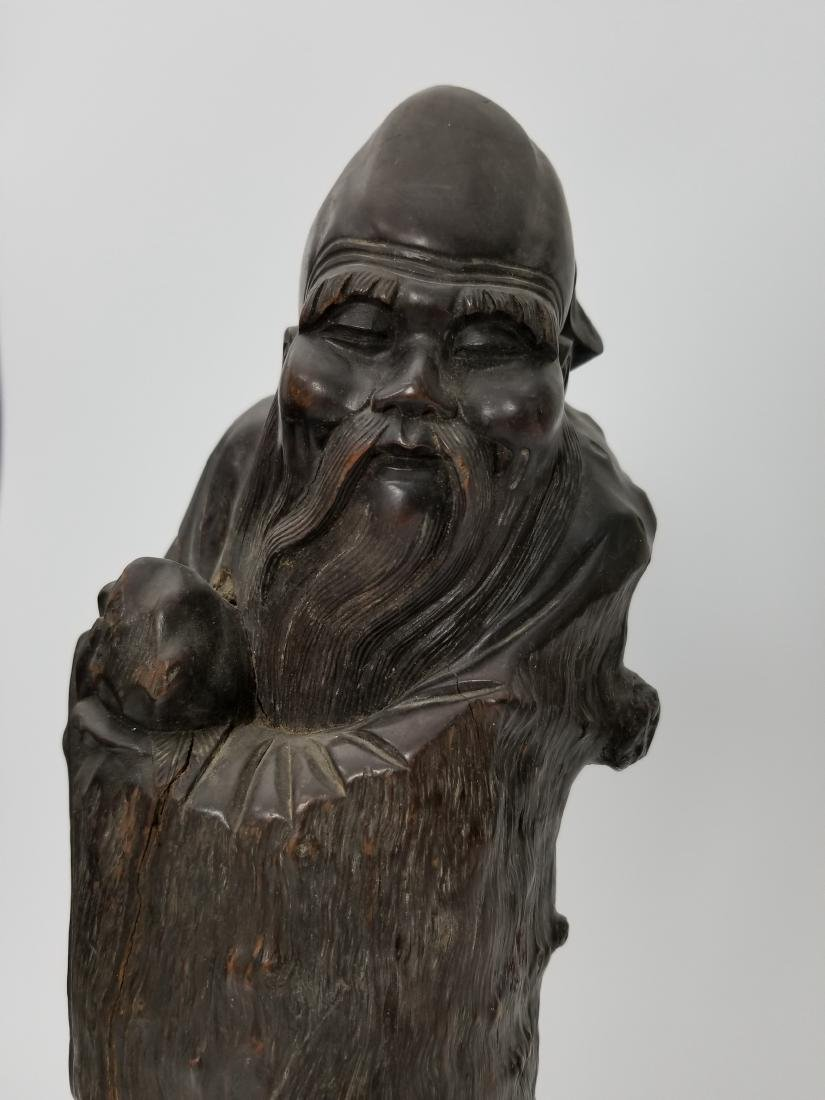 A Carved Wood Longevity - 4