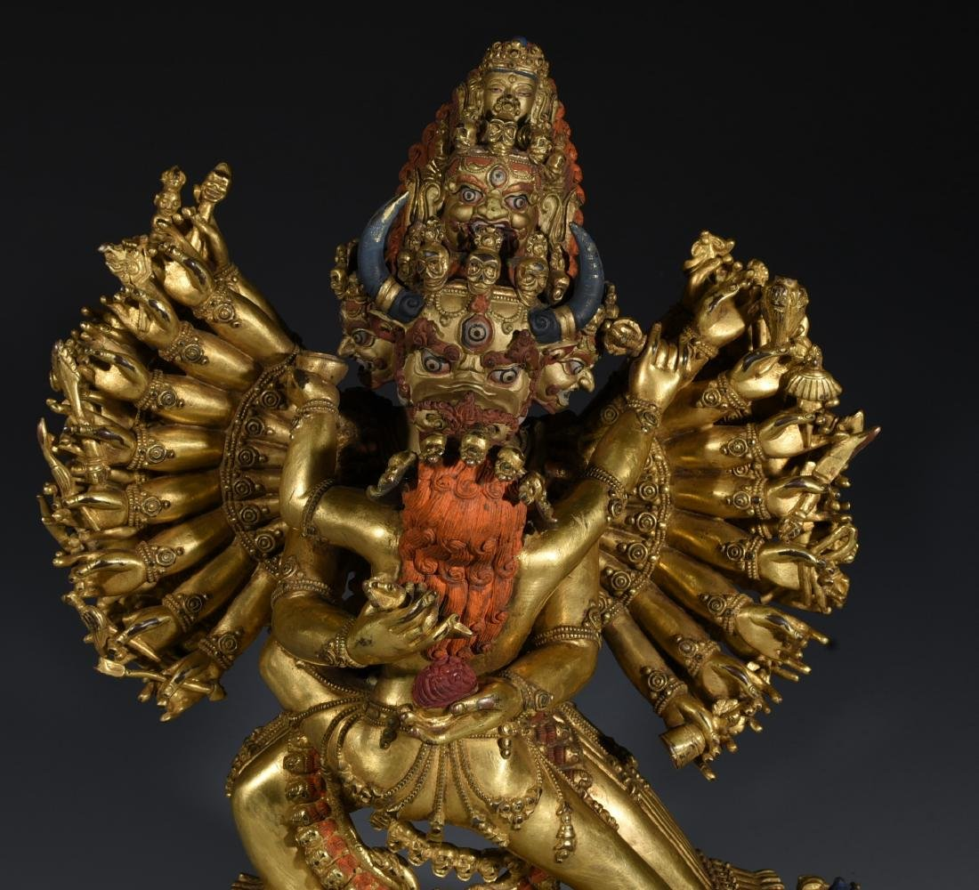 A Gilt Bronze Buddha Statue - 2