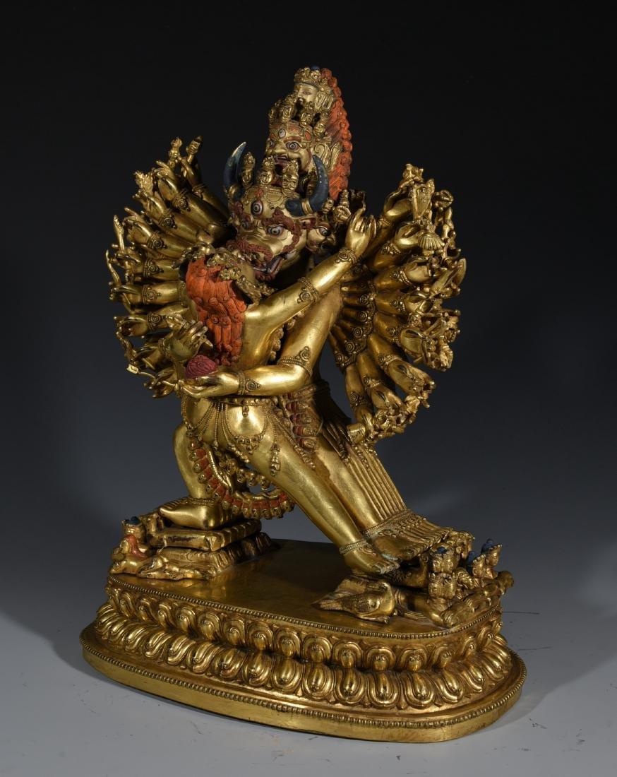 A Gilt Bronze Buddha Statue - 5