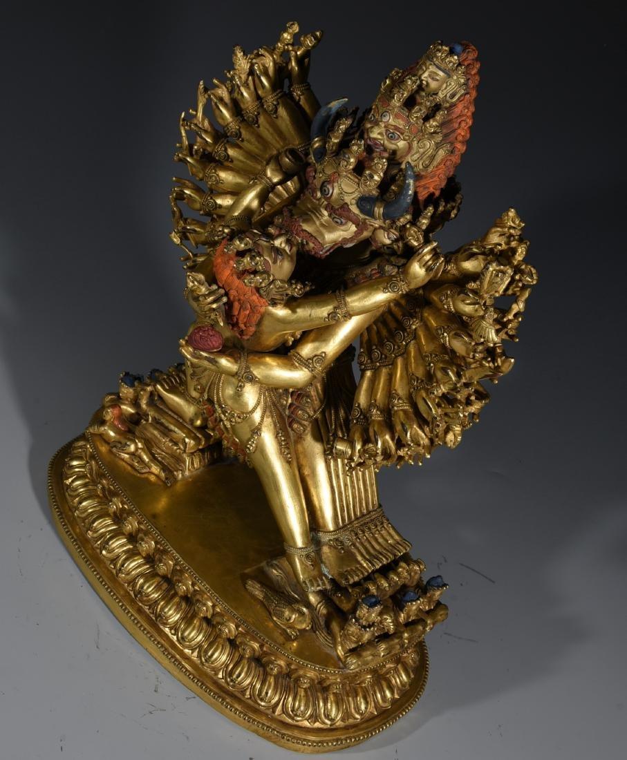 A Gilt Bronze Buddha Statue - 6