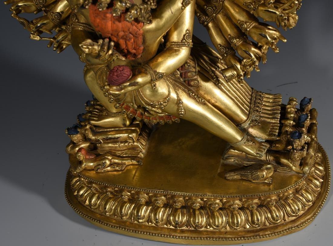 A Gilt Bronze Buddha Statue - 7