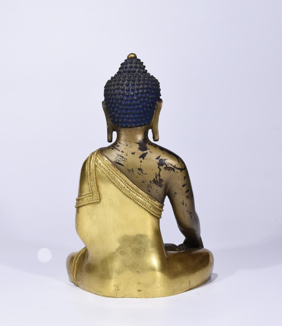 A Gilt Bronze Figure of Buddha - 6