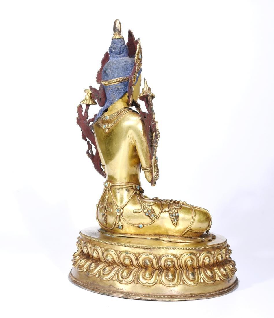 A Gilt Bronze Figure of Buddha - 5