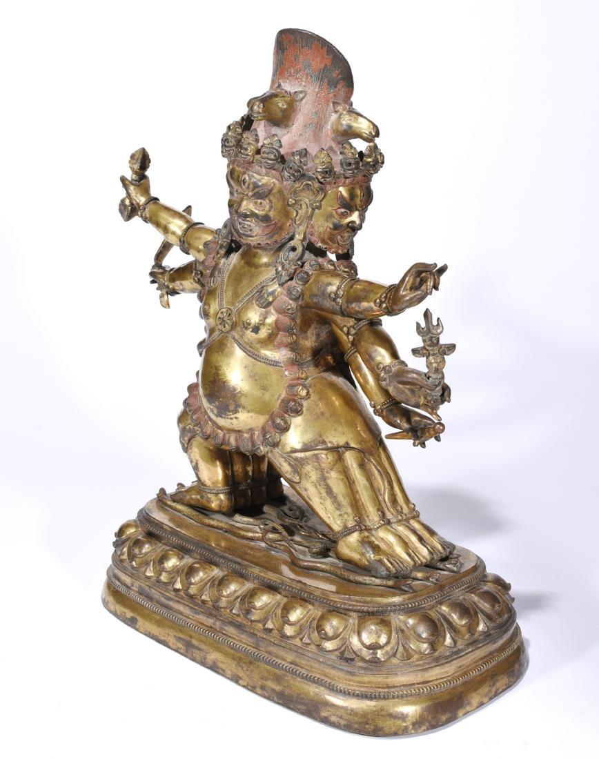 A Gilt Bronze Figure of Buddha - 3