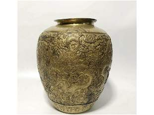 A GILT-BRONZE JAR