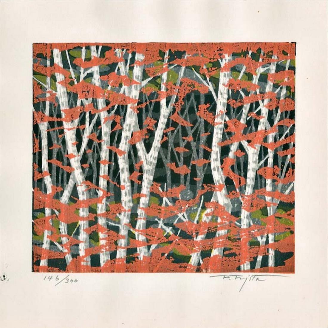 Fujita Fumio: Autumn Woodblock