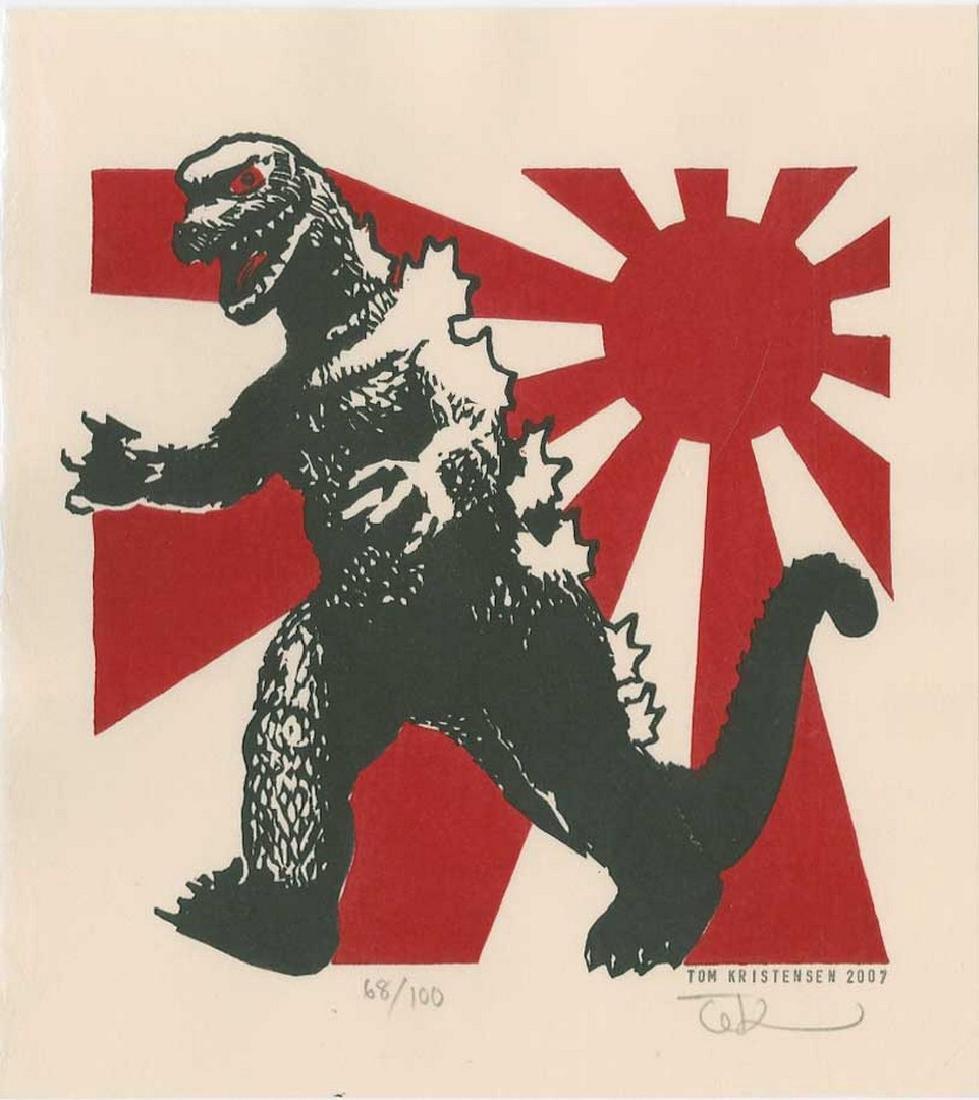 Tom Kirstensen -- Godzilla and Japanese Flag (#68/35)