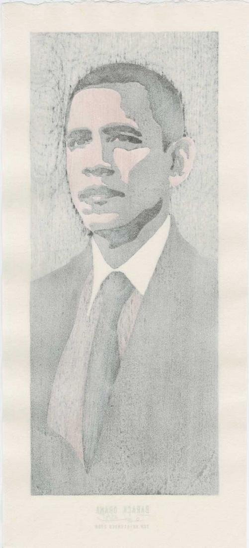 Tom Kirstensen -- Barack Obama (#23/35) Woodblock - 2