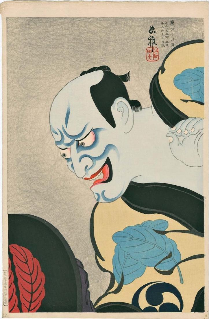 Tadamasa Ueno: Kabuki Actor as Heikuro Woodblock