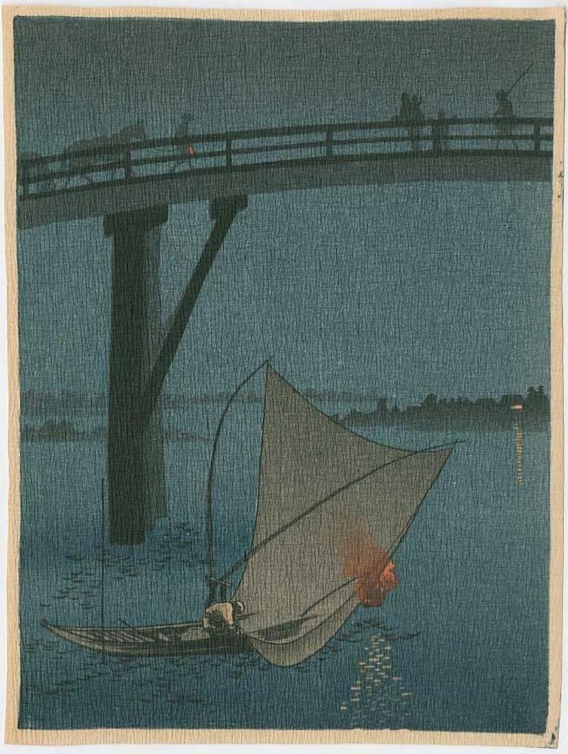 Yoshimune Arai -- Fishing Boat Woodblock