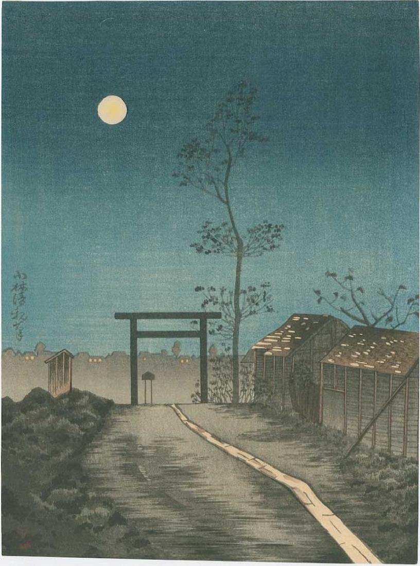 Kiyochika -- Taroinari Shrine at Asakusa Woodblock